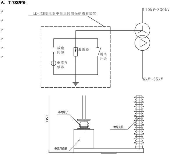 lr-jxb变压器中性点间隙接地保护成套设备
